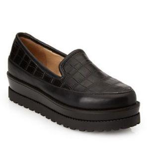 Forever 21 Croc Embossed Platform Loafers